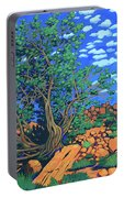 Juniper Trees And Deer Portable Battery Charger