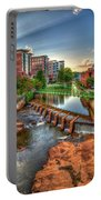 Just Before Sunset Reedy River Falls Park Greenville South Carolina Art Portable Battery Charger