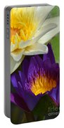 Just Opening Purple Waterlily With White - Vertical Portable Battery Charger