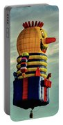 Just Passing Through  Hot Air Balloon Portable Battery Charger by Bob Orsillo