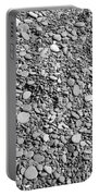 Just Rocks - Black And White Portable Battery Charger