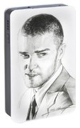 Justin Timberlake Drawing Portable Battery Charger