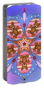 Kaleidoscope Of Bears And Bees Portable Battery Charger