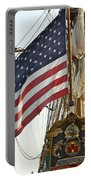 Kalmar Nyckel American Flag Portable Battery Charger