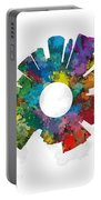 Kansas City Small World Cityscape Skyline Abstract Portable Battery Charger