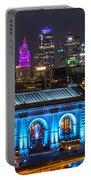 Kansas City Vibrant At Night Portable Battery Charger
