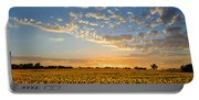 Kansas Sunflowers At Sunset Portable Battery Charger