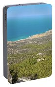 Kantara Castle, Cyprus, Panorama Portable Battery Charger