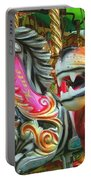 Kate The Zebra And  Lion Carousel  Portable Battery Charger