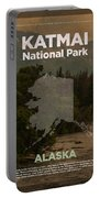 Katmai National Park In Alaska Travel Poster Series Of National Parks Number 34 Portable Battery Charger