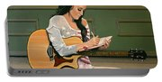 Katy Perry Painting Portable Battery Charger