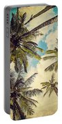 Kauai Island Palms - Blue Hawaii Photography Portable Battery Charger