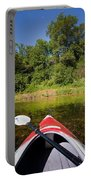 Kayak On A Forested Lake Portable Battery Charger