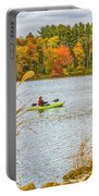 Kayaking In Fall Portable Battery Charger