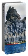 Kayaking Past Cliffs Portable Battery Charger