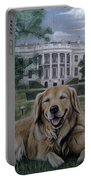 Kelli On The White House Lawn Portable Battery Charger