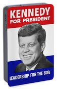 Kennedy For President 1960 Campaign Poster Portable Battery Charger