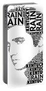 Kentucky Rain Elvis Wordart Portable Battery Charger