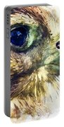 Kestrel Watercolor Painting Portable Battery Charger