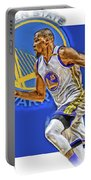 Kevin Durant Golden State Warriors Oil Art Portable Battery Charger