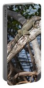 Key West Iguana In Mangrove 3 Portable Battery Charger