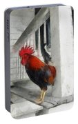 Key West Porch Rooster Portable Battery Charger