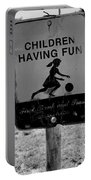 Kids At Play Sign Portable Battery Charger