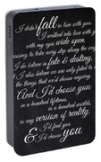 Kiersten White Quote Portable Battery Charger