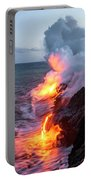 Kilauea Volcano Lava Flow Sea Entry 3- The Big Island Hawaii Portable Battery Charger