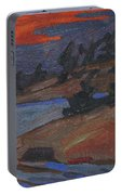 Killbear Flagged Pines At Sunset Portable Battery Charger