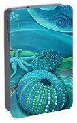 Kina Sea Anemone With  Stingray By Reina Cottier Portable Battery Charger
