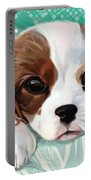 Spaniel Puppy Resting Portable Battery Charger