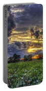 King Cotton Sunset Art Statesboro Georgia Portable Battery Charger