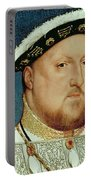 King Henry Viii Portable Battery Charger by Hans Holbein the Younger
