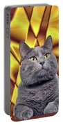 King Kitty With Golden Eyes Portable Battery Charger