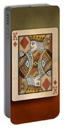 King Of Diamonds In Wood Portable Battery Charger