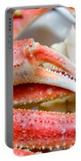King Snow Crab Legs Ready To Eat Closeup Portable Battery Charger