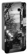 King Street At Night - Old Town Alexandria Portable Battery Charger