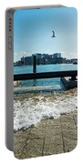 King Tide On The Boston Waterfront Boston Ma Portable Battery Charger