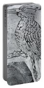 Kingfisher White On Black Portable Battery Charger