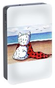 Kiniart Beach Blanket Westie Portable Battery Charger