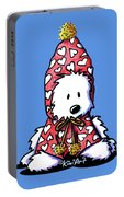 Kiniart Snowbunny Westie Portable Battery Charger