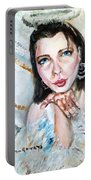 Kiss Of An Angel Portable Battery Charger by Shana Rowe Jackson