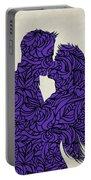 Kissing Couple Silhouette Ultraviolet Portable Battery Charger