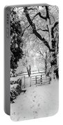 Kissing Gate In The Snow Portable Battery Charger