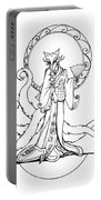 Kitsune Lady Portable Battery Charger