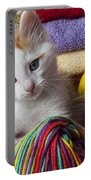 Kitten In Yarn Portable Battery Charger