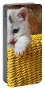 Kitten In Yellow Basket Portable Battery Charger