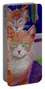 Kittens With Wild Wallpaper Portable Battery Charger