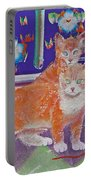 Kittens With Wild Wool Portable Battery Charger